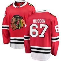 Jacob Nilsson Chicago Blackhawks Fanatics Branded Men's Breakaway Home Jersey - Red