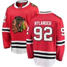 Alexander Nylander Chicago Blackhawks Fanatics Branded Men's Breakaway Home Jersey - Red
