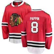 Jim Pappin Chicago Blackhawks Fanatics Branded Men's Breakaway Home Jersey - Red