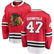 John Quenneville Chicago Blackhawks Fanatics Branded Men's ized Breakaway Home Jersey - Red