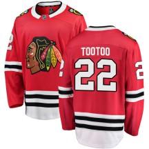Jordin Tootoo Chicago Blackhawks Fanatics Branded Men's Breakaway Home Jersey - Red
