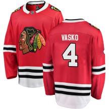 Elmer Vasko Chicago Blackhawks Fanatics Branded Men's Breakaway Home Jersey - Red