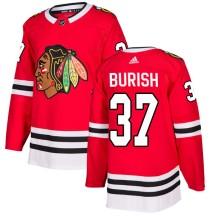 Adam Burish Chicago Blackhawks Adidas Men's Authentic Home Jersey - Red