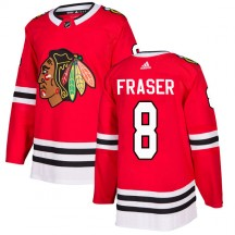 Curt Fraser Chicago Blackhawks Adidas Men's Authentic Home Jersey - Red