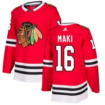 Chico Maki Chicago Blackhawks Adidas Men's Authentic Home Jersey - Red