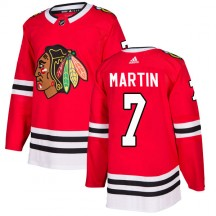 Pit Martin Chicago Blackhawks Adidas Men's Authentic Home Jersey - Red