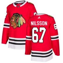 Jacob Nilsson Chicago Blackhawks Adidas Men's Authentic Home Jersey - Red