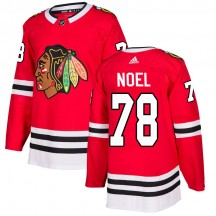 Nathan Noel Chicago Blackhawks Adidas Men's Authentic Home Jersey - Red