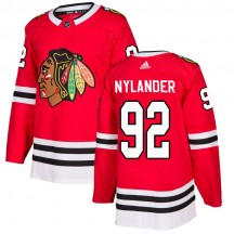 Alexander Nylander Chicago Blackhawks Adidas Men's Authentic Home Jersey - Red