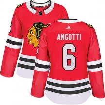 Lou Angotti Chicago Blackhawks Adidas Women's Authentic Home Jersey - Red