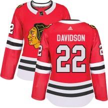 Brandon Davidson Chicago Blackhawks Adidas Women's Authentic Home Jersey - Red