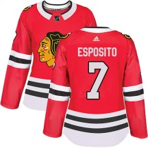 Phil Esposito Chicago Blackhawks Adidas Women's Authentic Home Jersey - Red