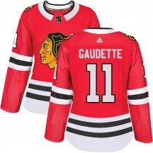 Adam Gaudette Chicago Blackhawks Adidas Women's Authentic Home Jersey - Red