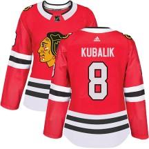 Dominik Kubalik Chicago Blackhawks Adidas Women's Authentic Home Jersey - Red
