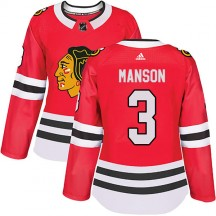 Dave Manson Chicago Blackhawks Adidas Women's Authentic Home Jersey - Red