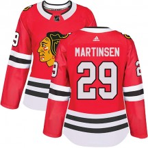 Andreas Martinsen Chicago Blackhawks Adidas Women's Authentic Home Jersey - Red