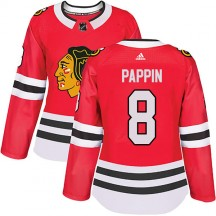 Jim Pappin Chicago Blackhawks Adidas Women's Authentic Home Jersey - Red