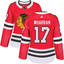 Kenny Wharram Chicago Blackhawks Adidas Women's Authentic Home Jersey - Red