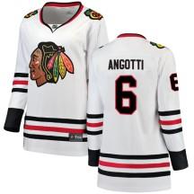 Lou Angotti Chicago Blackhawks Fanatics Branded Women's Breakaway Away Jersey - White