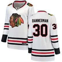 Murray Bannerman Chicago Blackhawks Fanatics Branded Women's Breakaway Away Jersey - White