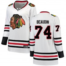 Nicolas Beaudin Chicago Blackhawks Fanatics Branded Women's ized Breakaway Away Jersey - White
