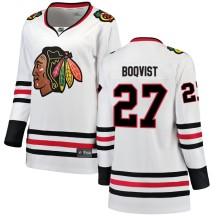 Adam Boqvist Chicago Blackhawks Fanatics Branded Women's Breakaway Away Jersey - White