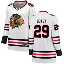Madison Bowey Chicago Blackhawks Fanatics Branded Women's Breakaway Away Jersey - White