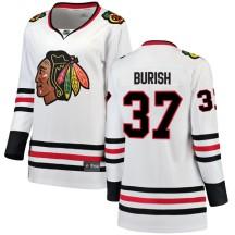 Adam Burish Chicago Blackhawks Fanatics Branded Women's Breakaway Away Jersey - White