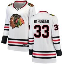 Dustin Byfuglien Chicago Blackhawks Fanatics Branded Women's Breakaway Away Jersey - White