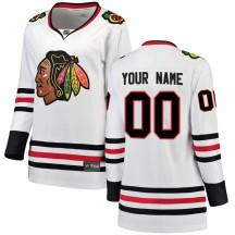 Custom Chicago Blackhawks Fanatics Branded Women's Breakaway Away Jersey - White