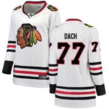 Kirby Dach Chicago Blackhawks Fanatics Branded Women's Breakaway Away Jersey - White