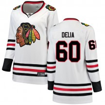 Collin Delia Chicago Blackhawks Fanatics Branded Women's Breakaway Away Jersey - White