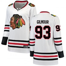 Doug Gilmour Chicago Blackhawks Fanatics Branded Women's Breakaway Away Jersey - White