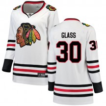 Jeff Glass Chicago Blackhawks Fanatics Branded Women's Breakaway Away Jersey - White