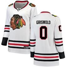 Clark Griswold Chicago Blackhawks Fanatics Branded Women's Breakaway Away Jersey - White