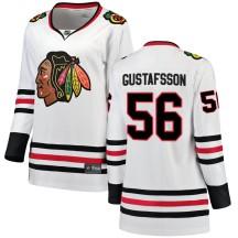 Erik Gustafsson Chicago Blackhawks Fanatics Branded Women's Breakaway Away Jersey - White