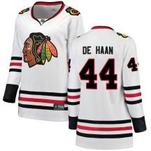 Calvin de Haan Chicago Blackhawks Fanatics Branded Women's Breakaway Away Jersey - White