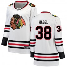 Brandon Hagel Chicago Blackhawks Fanatics Branded Women's Breakaway Away Jersey - White
