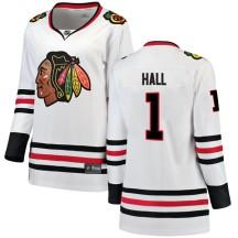 Glenn Hall Chicago Blackhawks Fanatics Branded Women's Breakaway Away Jersey - White