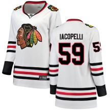 Matt Iacopelli Chicago Blackhawks Fanatics Branded Women's Breakaway Away Jersey - White