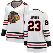 Michael Jordan Chicago Blackhawks Fanatics Branded Women's Breakaway Away Jersey - White