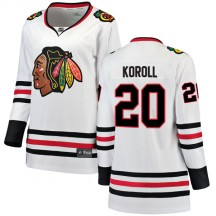 Cliff Koroll Chicago Blackhawks Fanatics Branded Women's Breakaway Away Jersey - White