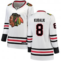 Dominik Kubalik Chicago Blackhawks Fanatics Branded Women's Breakaway Away Jersey - White