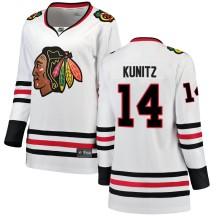 Chris Kunitz Chicago Blackhawks Fanatics Branded Women's Breakaway Away Jersey - White