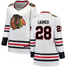 Steve Larmer Chicago Blackhawks Fanatics Branded Women's Breakaway Away Jersey - White
