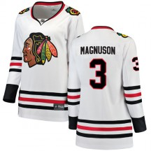 Keith Magnuson Chicago Blackhawks Fanatics Branded Women's Breakaway Away Jersey - White