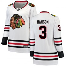 Dave Manson Chicago Blackhawks Fanatics Branded Women's Breakaway Away Jersey - White