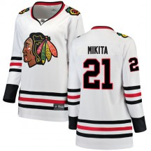 Stan Mikita Chicago Blackhawks Fanatics Branded Women's Breakaway Away Jersey - White