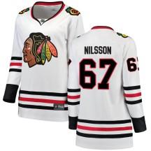 Jacob Nilsson Chicago Blackhawks Fanatics Branded Women's Breakaway Away Jersey - White