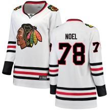Nathan Noel Chicago Blackhawks Fanatics Branded Women's Breakaway Away Jersey - White